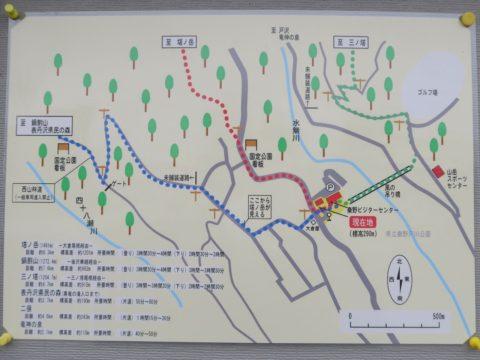 鍋割山塔ノ岳大倉周辺地図