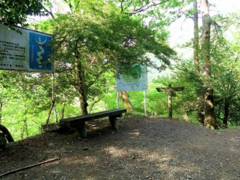 西山林道黒竜の滝分岐