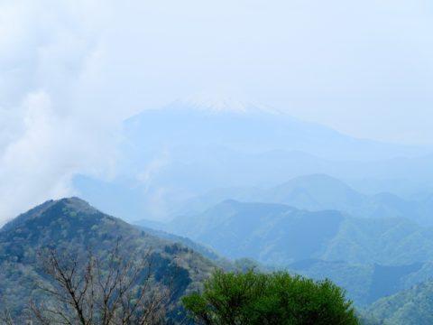 鍋割山頂富士山