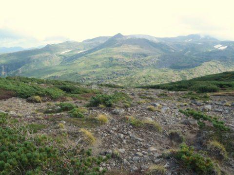 黒岳縦走路から北海岳方面