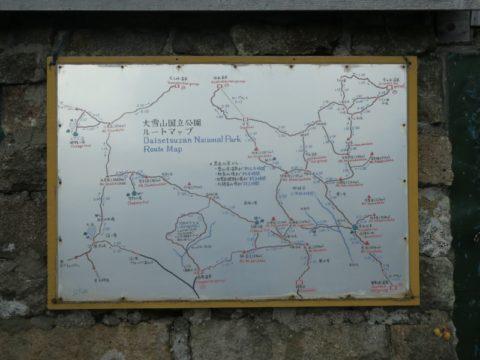 黒岳石室のルートマップ