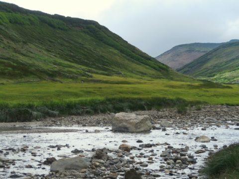 北海岳へ向けて赤石川を渡渉