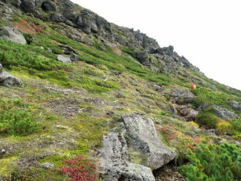 北海岳への縦走路
