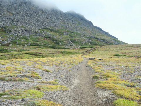 北海岳から白雲岳への縦走路