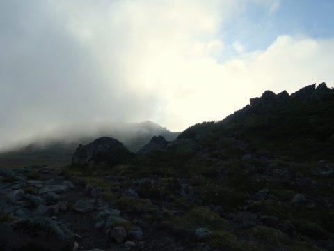 ガスる白雲岳