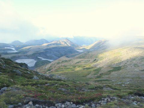 白雲岳縦走路からの景色
