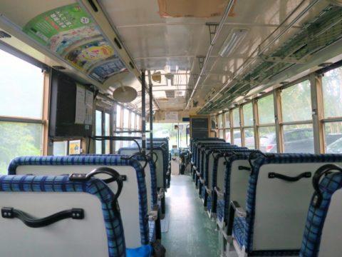 大雪山赤岳登山バス車内