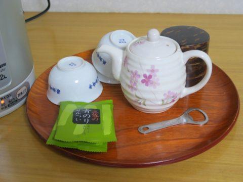 最御崎寺へんろセンター部屋お茶菓子