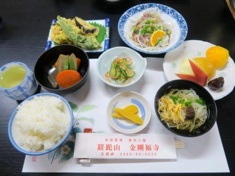 金剛福寺宿坊夕食