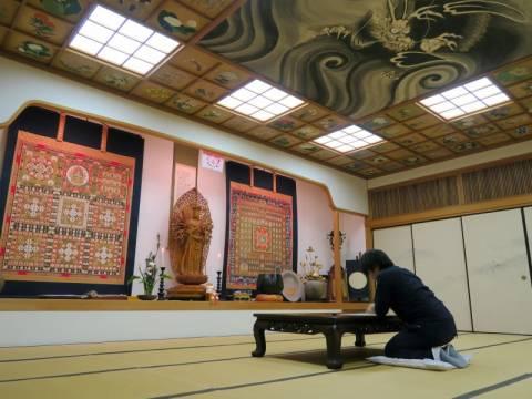 仙遊寺写経体験