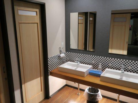 湯之谷温泉ゲストハウス洗面所