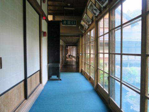 無量光院朝の廊下