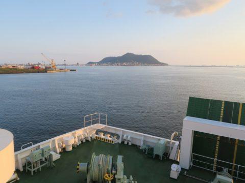 津軽海峡フェリーデッキ