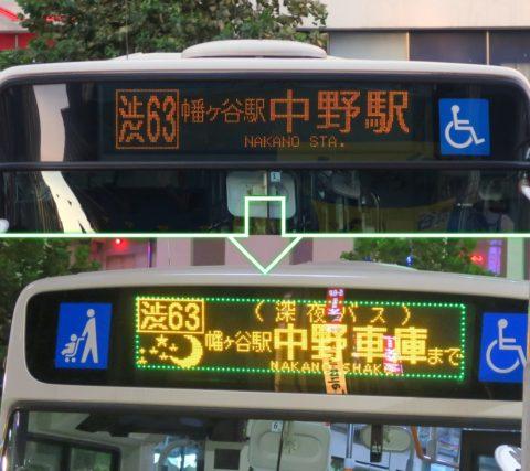 深夜バス方向幕