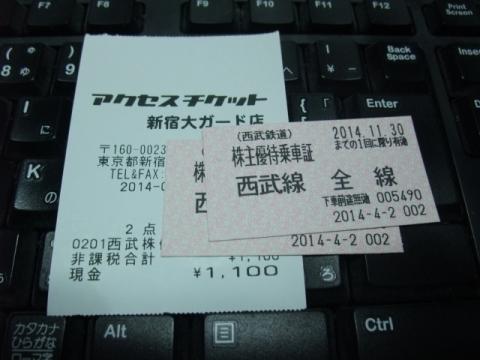 西武鉄道株主優待