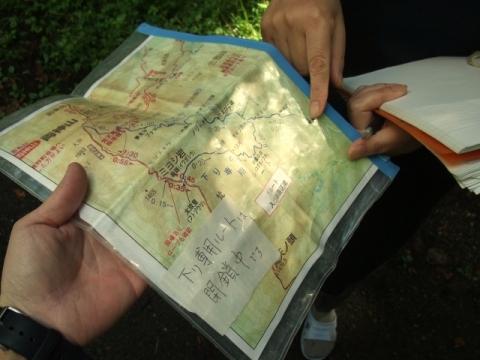 山中さんルート地図