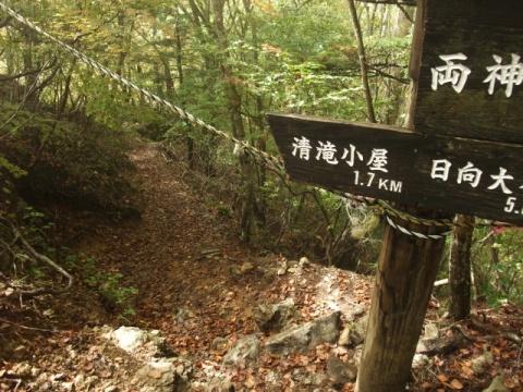 白井差コースへの標識