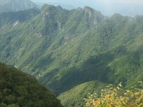 両神山霧景色