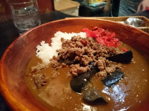 パブサントリアン茄子と挽肉のカレー