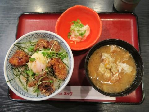 ユック竹橋知床鶏ザンギ丼定食